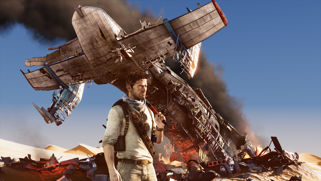 """Uncharted 3: Drake's Fortune follows treasure hunter Nathan Drake in search of  """"The Atlantis of the Sands""""."""