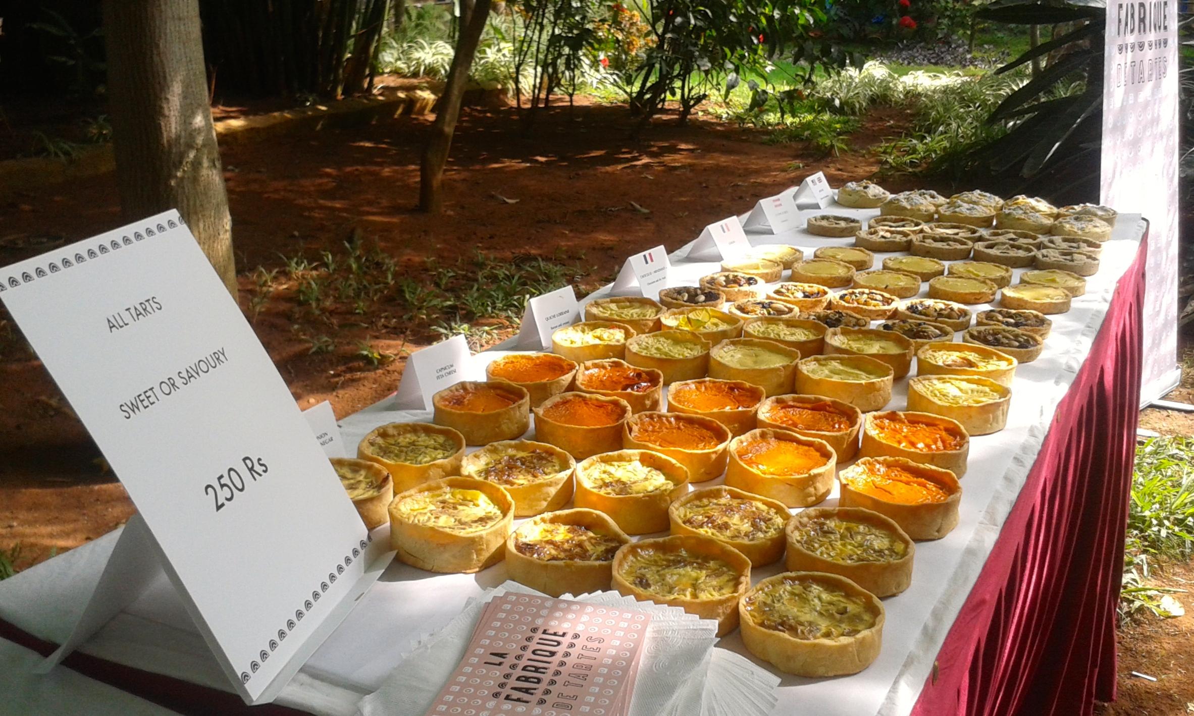 Dec 2014: artisan markets. Over 200 tarts sold.
