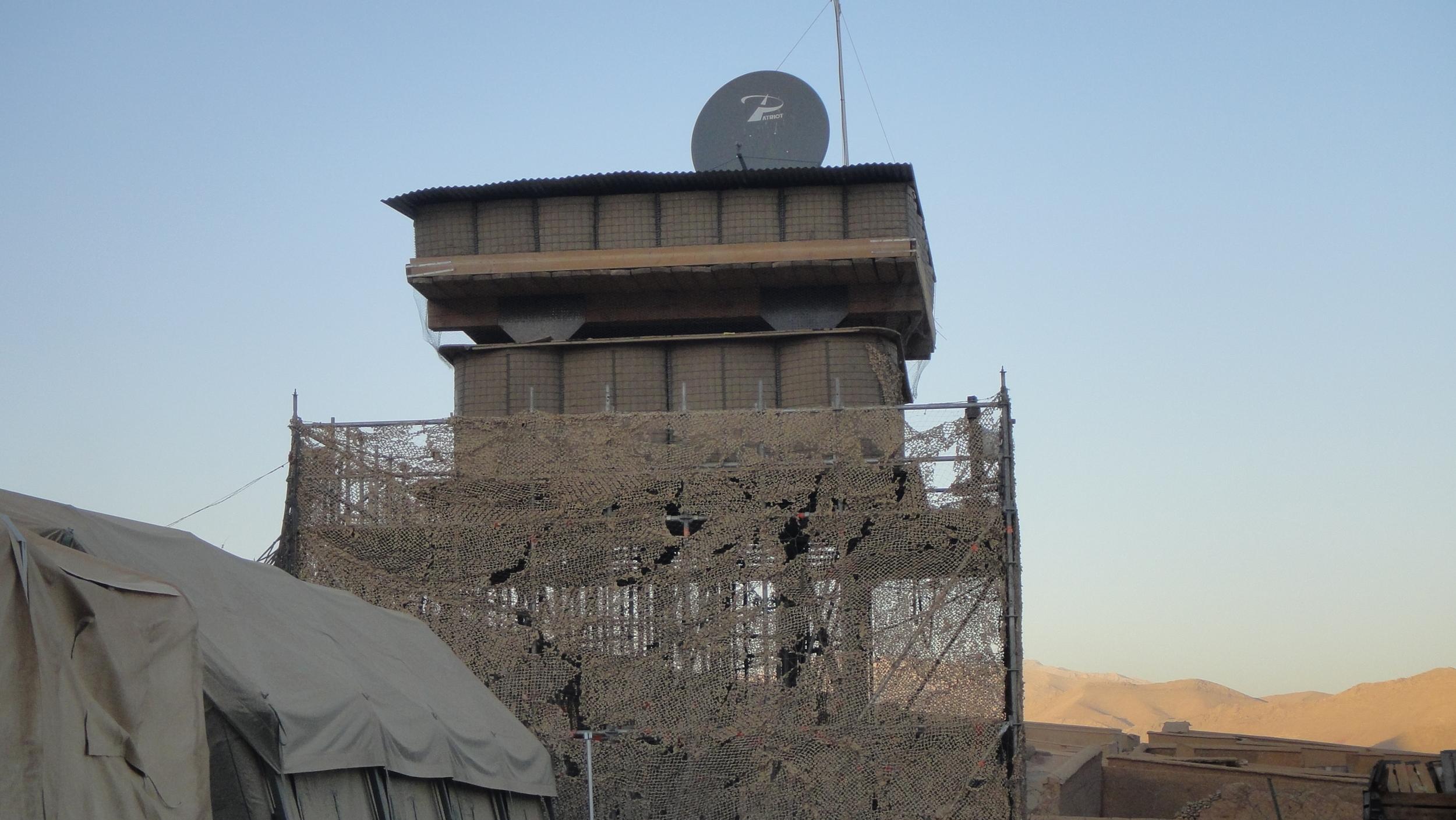 Afghanistan observation tower