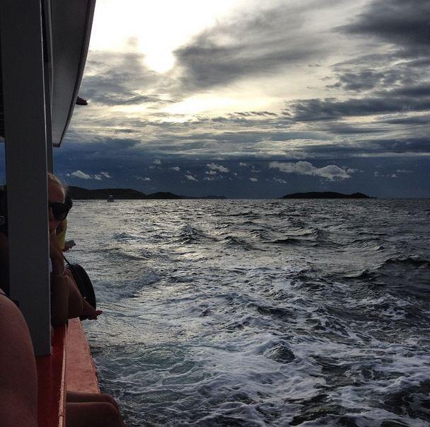 A lazy ferry back to Pattaya