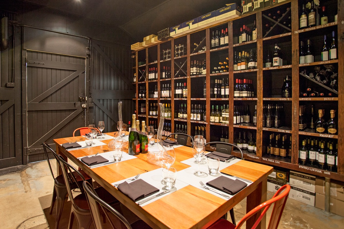 The degustation room at the Dispensary