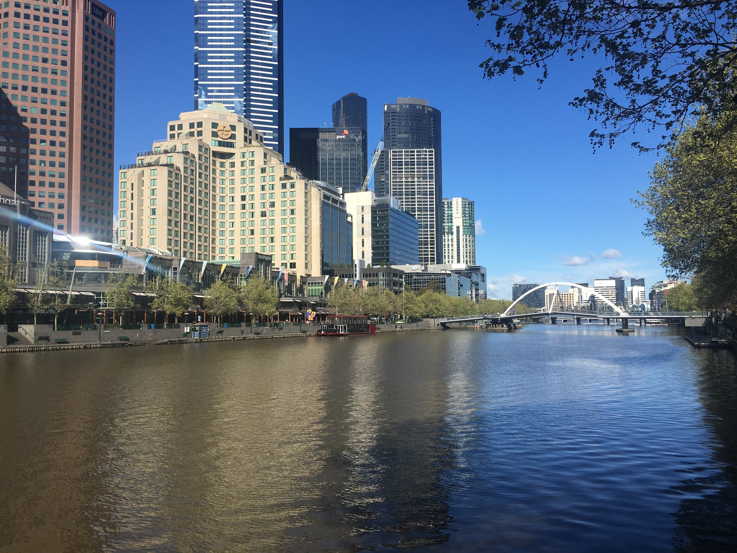 The Yarra River and South Bank region where you'll find bars, cafes, restaurants and the casino
