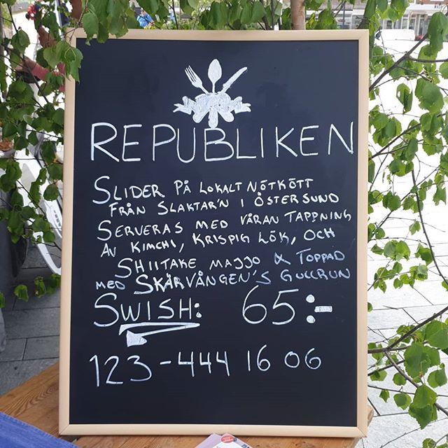 Idag säljer vi Sliders på stortorget i Östersund #eatartfestival