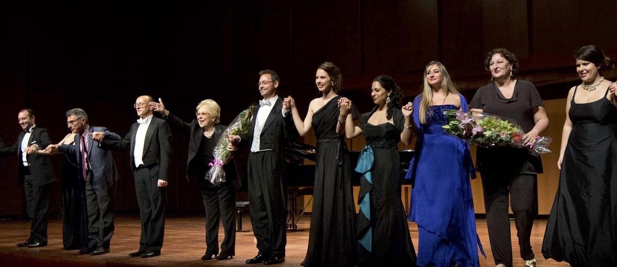"With Renata Scotto. "" Bel Canto"" Gala,  A  ccademia diSanta Cecilia,  October 2013"