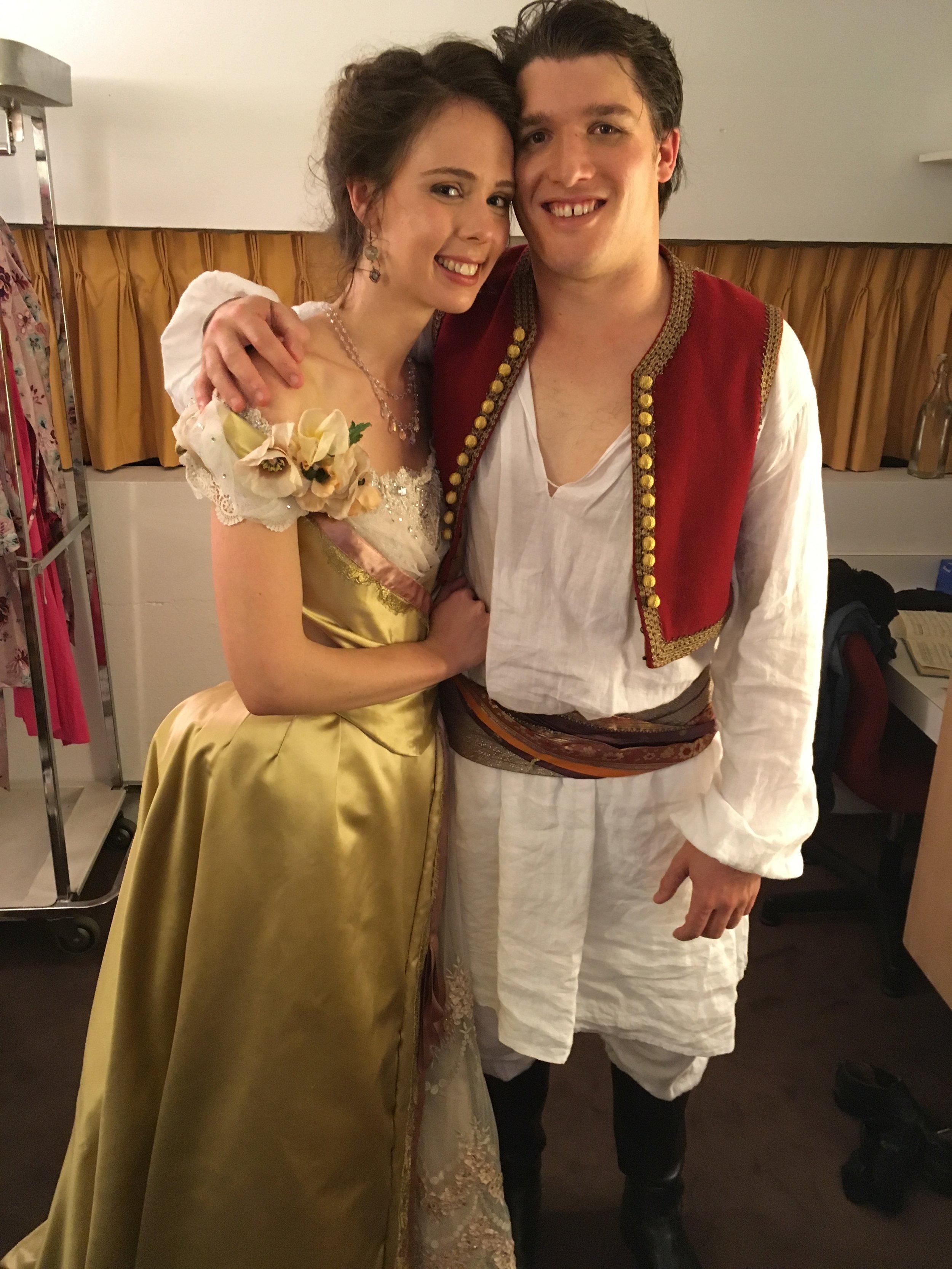 Anna with partner Jonathan Abernethy