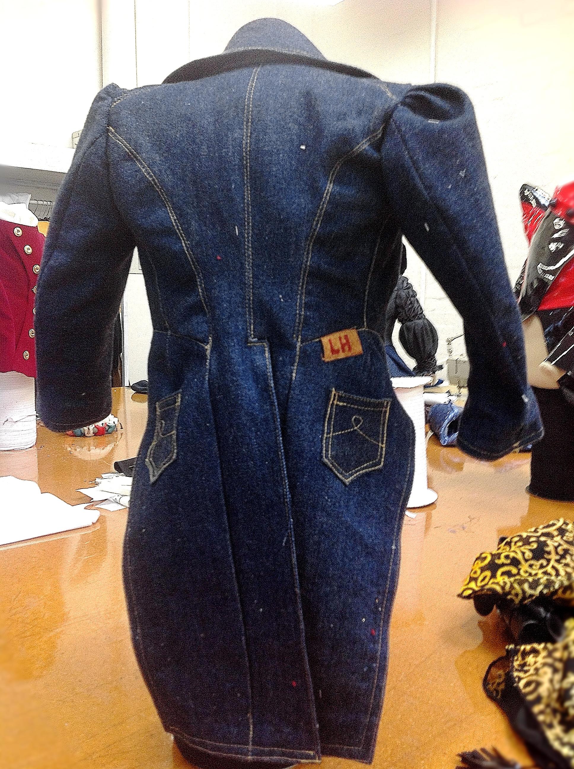 Laura's denim tailcoat