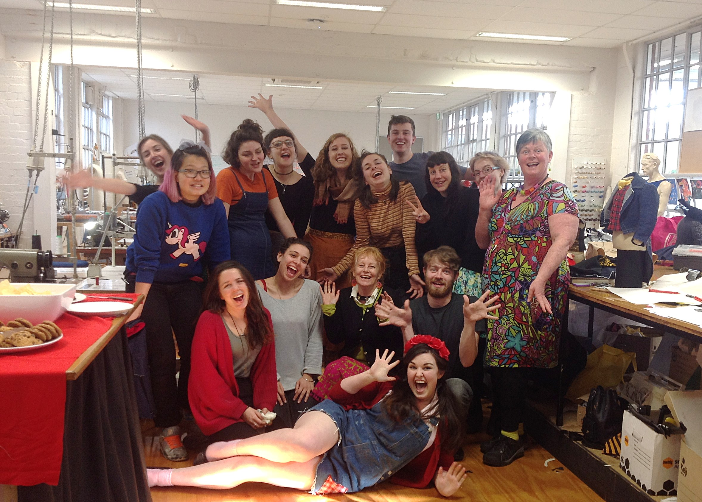 A group photo with the wonderful Kym on the right who is the big boss of all production at the VCA