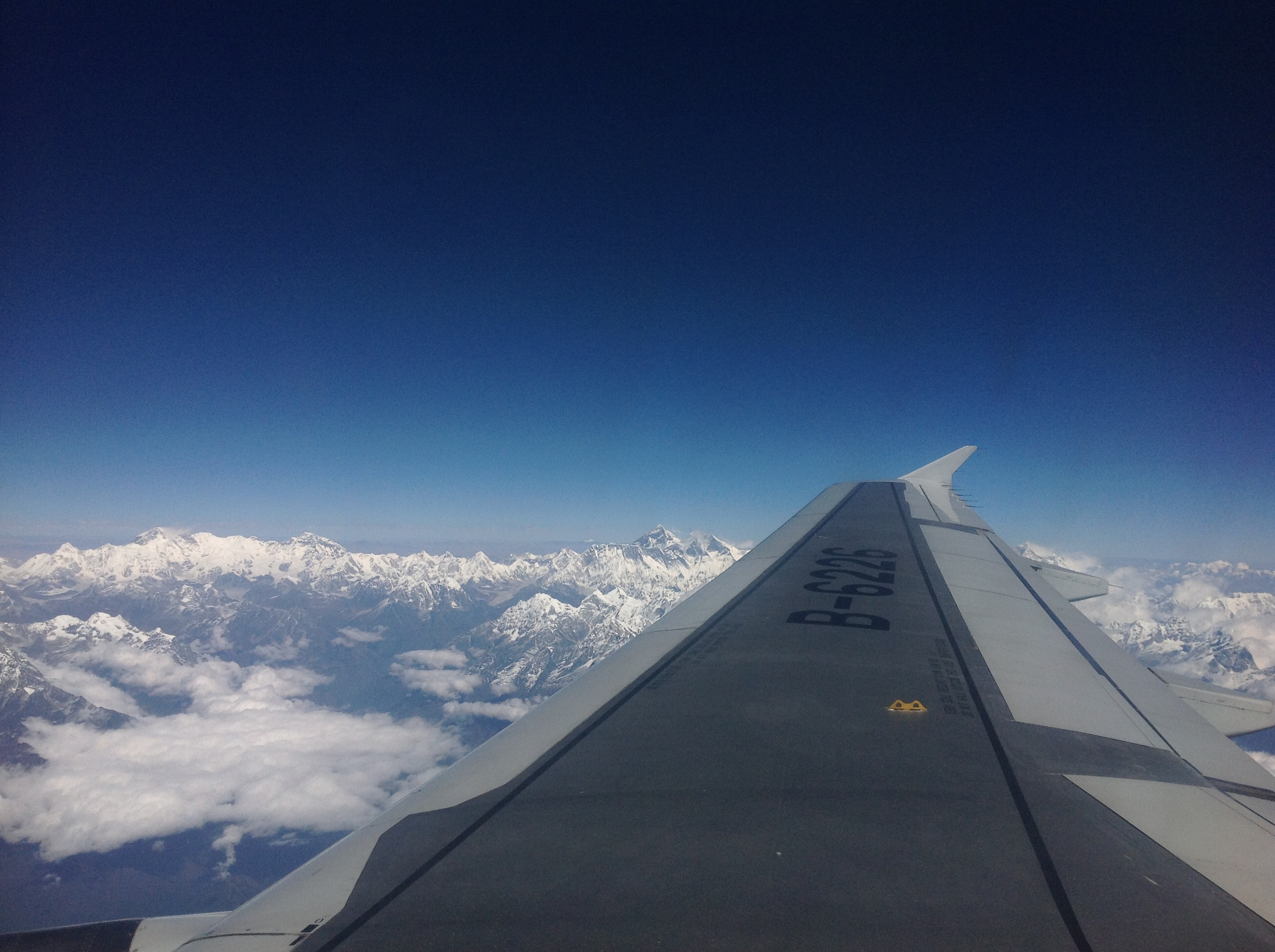 And finally a lovely view of Everest on the way home