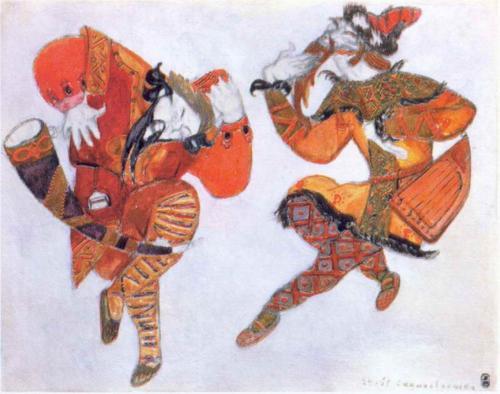 Clowns, Skula and Yeroshca, Nicolas Roerich, 1914