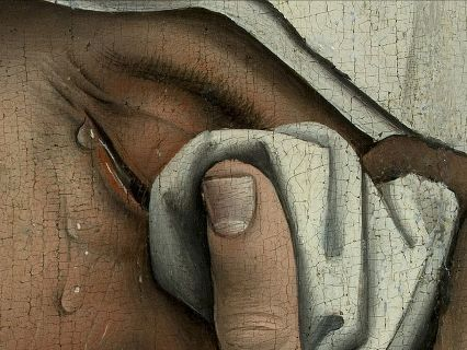 Descent from the cross (detail), Rogier van der Weyden