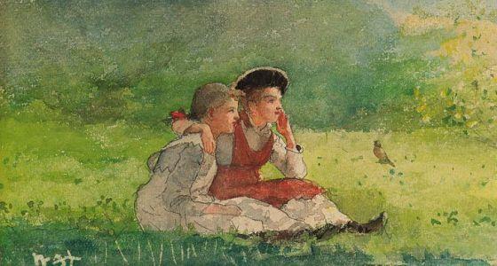 Listening to the birds, Winslow Homer