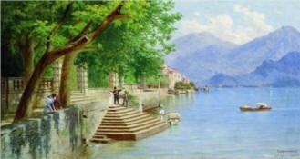 Rest on the lake, Fyodor Bronnikov