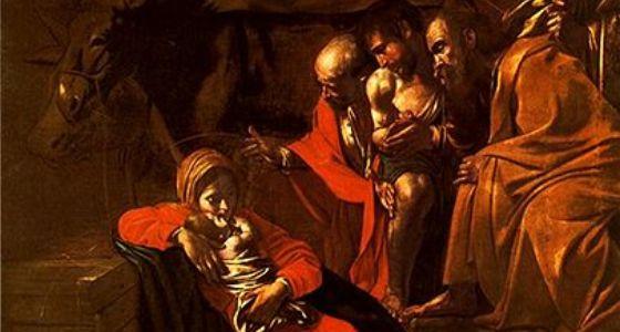 Caravaggio, Adoration of the shepherds