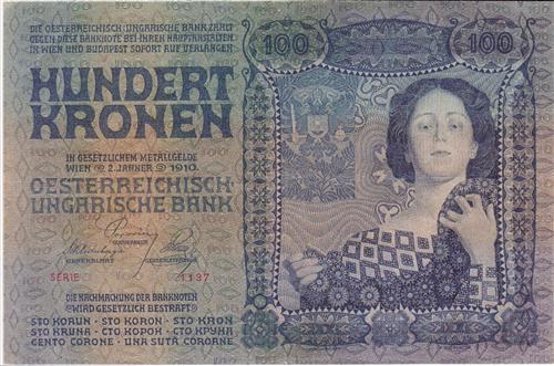 100 Crowns note, 1910. Koloman Moser