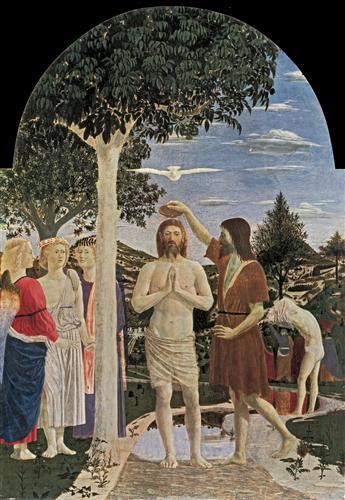 The baptism of christ, 1450. Piero della Francesca