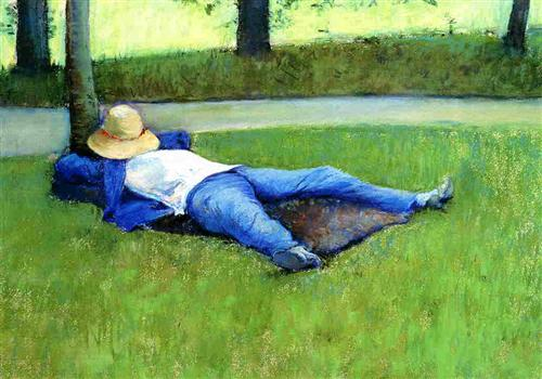 The nap, Gustave Caillebotte