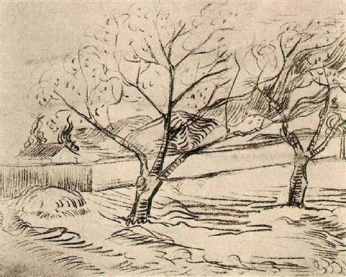Two trees, Vincent van Gogh