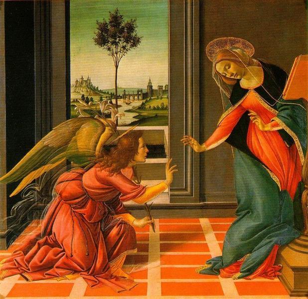 The Cestello Annunciation, Sandro Botticelli, 1489