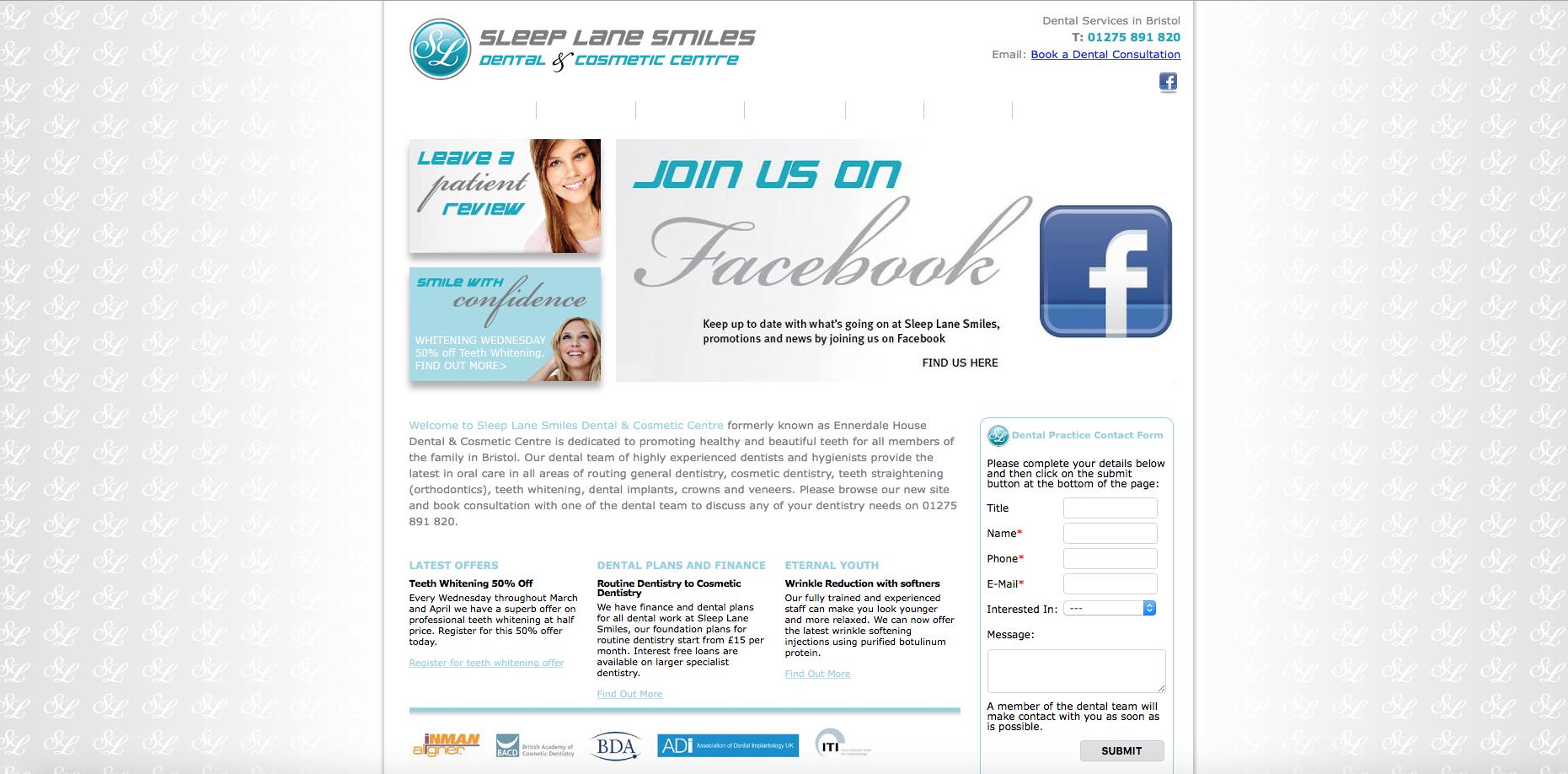 sleep-lane-smiles-website