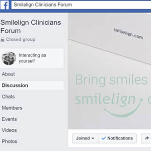 24/7 Smilelign Clinicians Forum on Facebook – giving you access to like-minded clinicians offering Smilelign treatment.