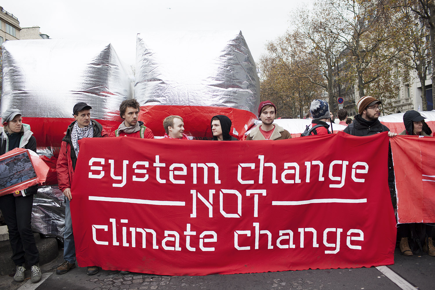 COP 21 climate change summit protest, Paris, France - 12 Dec 2015