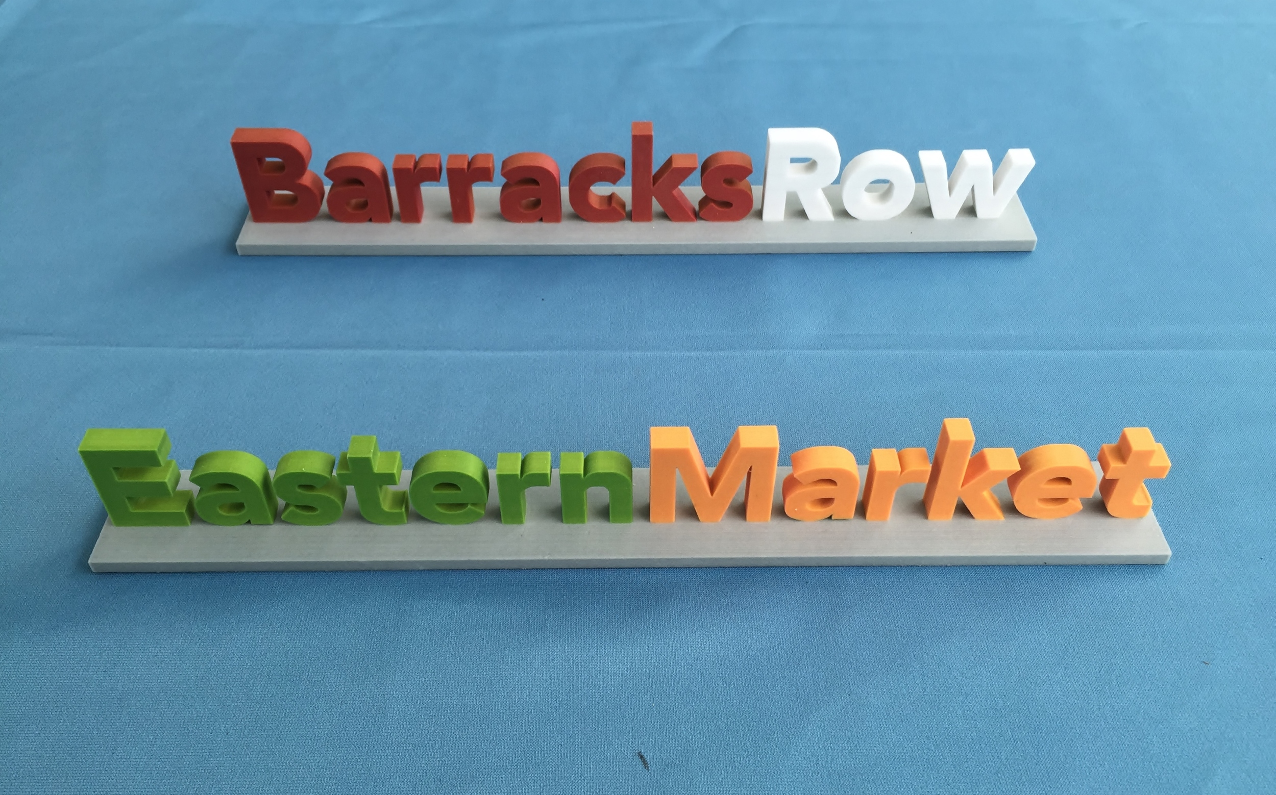 Barracks Row and Eastern Market Letters 3 D Printed in Color 10 6 15.JPG