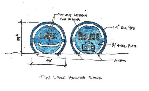 The Lake House Bike Rack