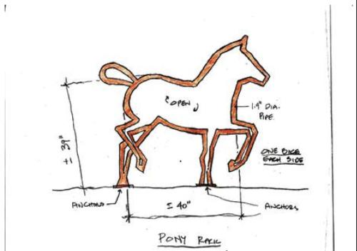 Pony Barn Bike Rack