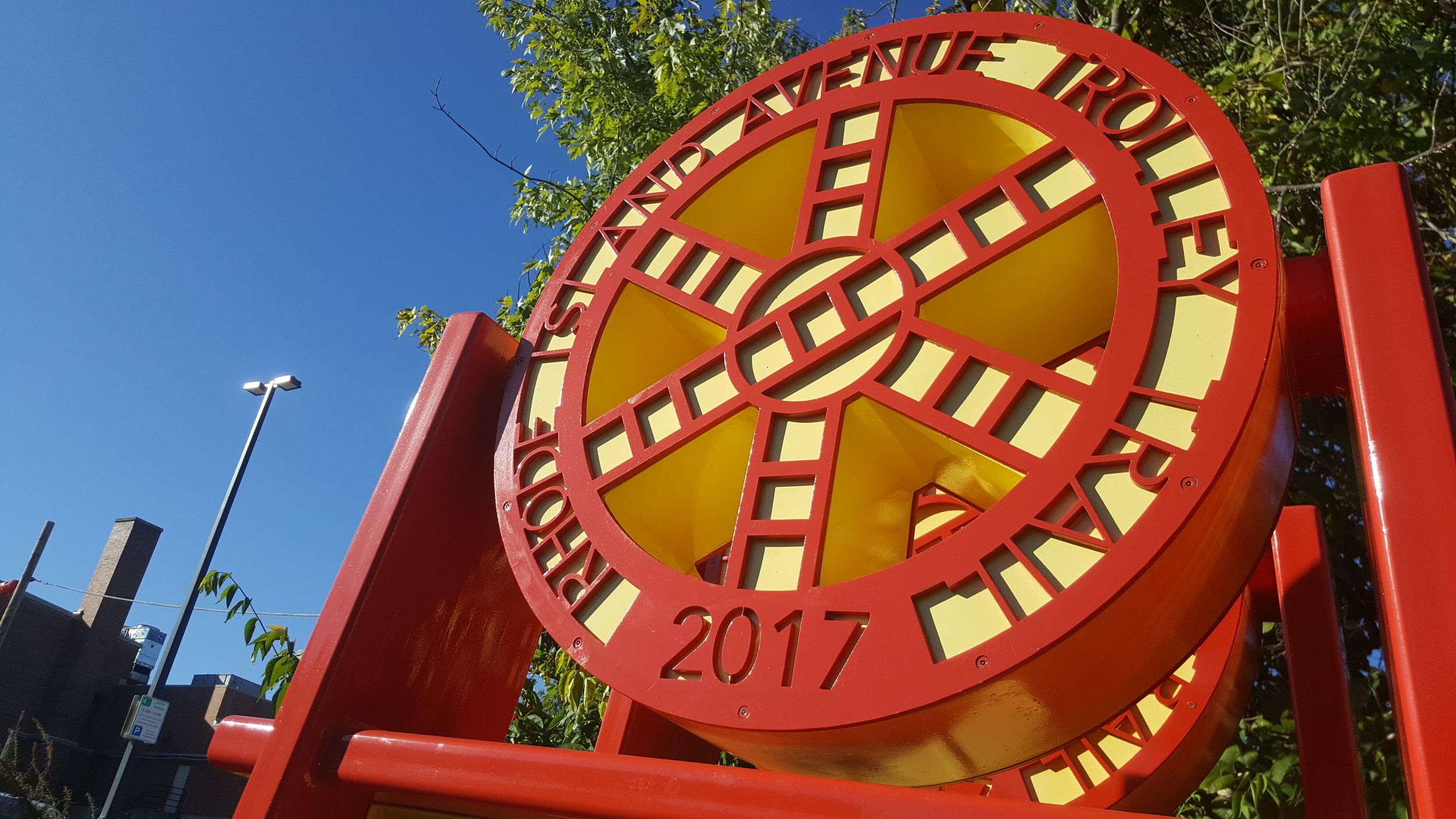 Rhode Island Trolley Trail Sculptural Signage