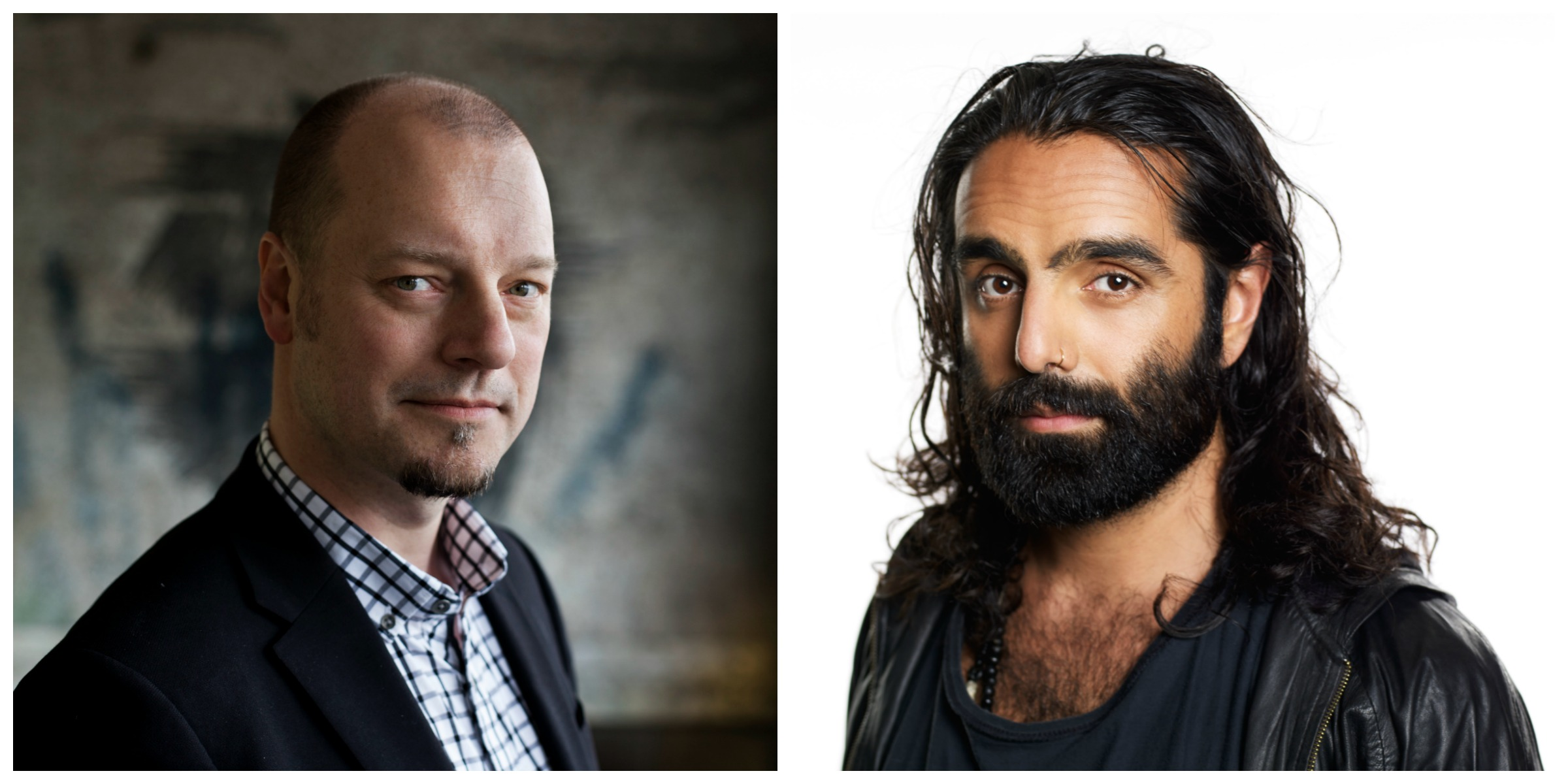 Jesper Strömbäck och Navid Modiri