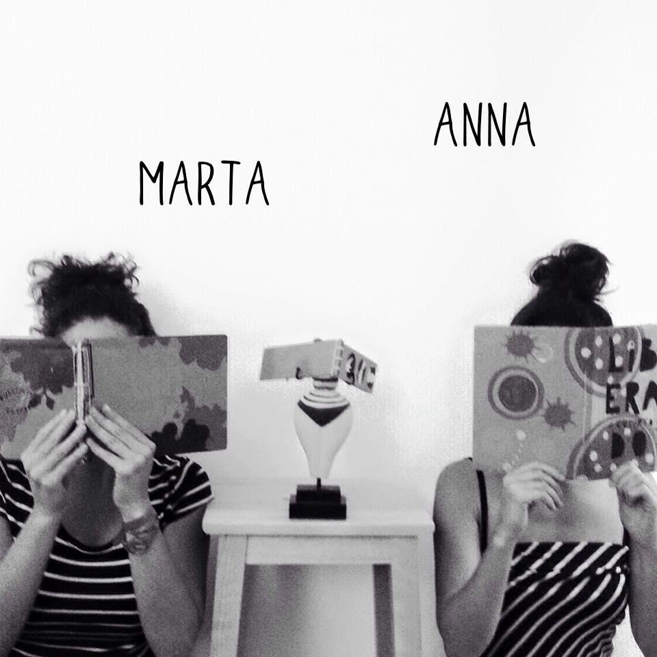 Marta e Anna con i Libri Cartoneros