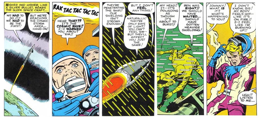 The Fantastic Four origin story, Fantastic Four # 1,  1961