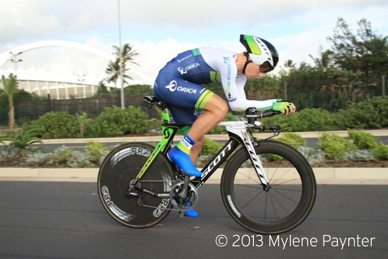 Photo:     Daryl Impey (Orica Greenedge) will be defending his Time Trial Championship title at the Pennypinchers 2015 SA National Road, Time Trial and Para-cycling Championships, taking place in Mpumalanga from 3-8 February. Photo credit: Mylene Paynter