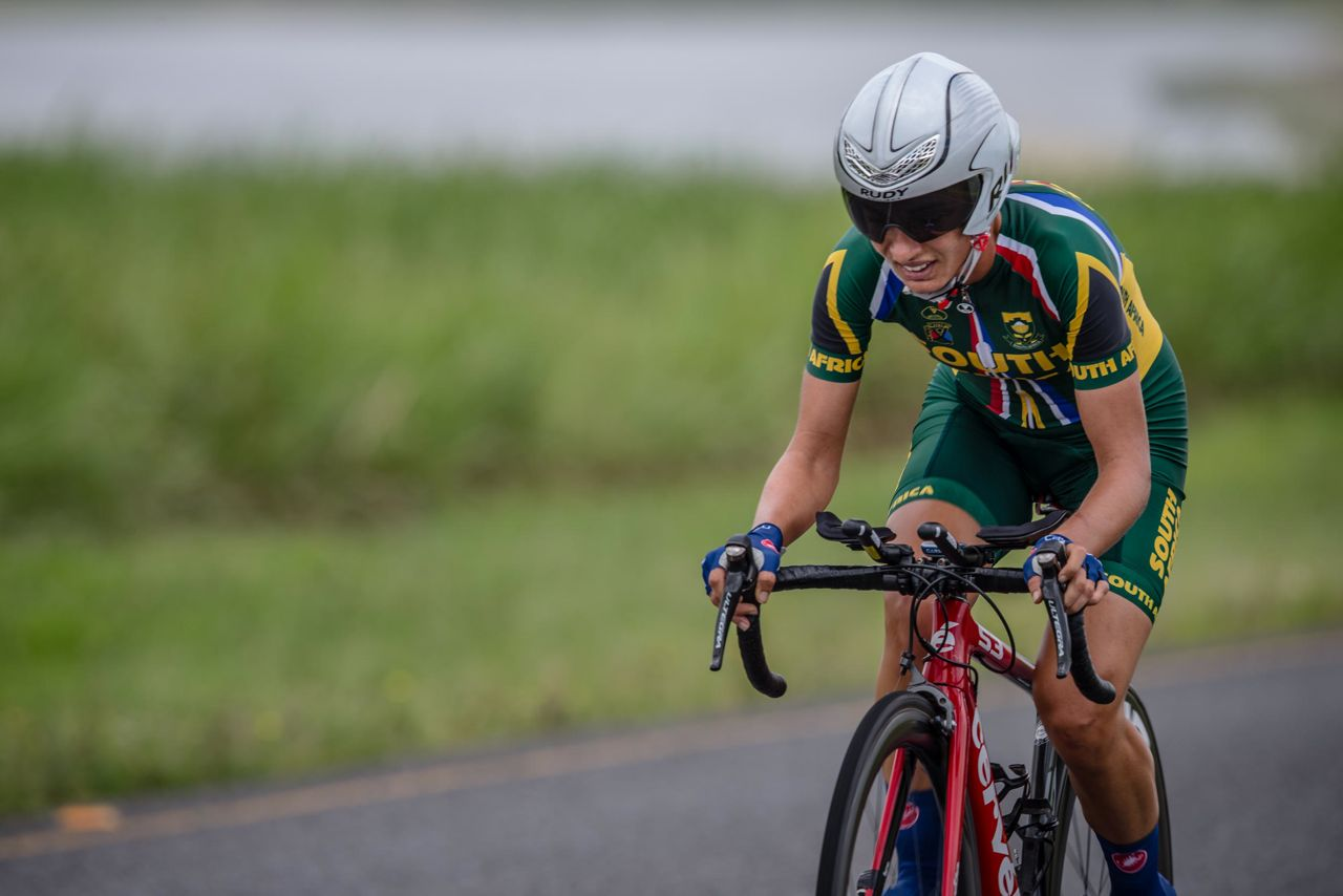 Recently crowned South African Time Trial and Road Race Champion Ashleigh Moolman-Pasio added the Continental Individual Time Trial gold medal to her achievements on day threeof the 2015 Confederation of African Cycling African Road Championships on Wednesday © craigdutton.com