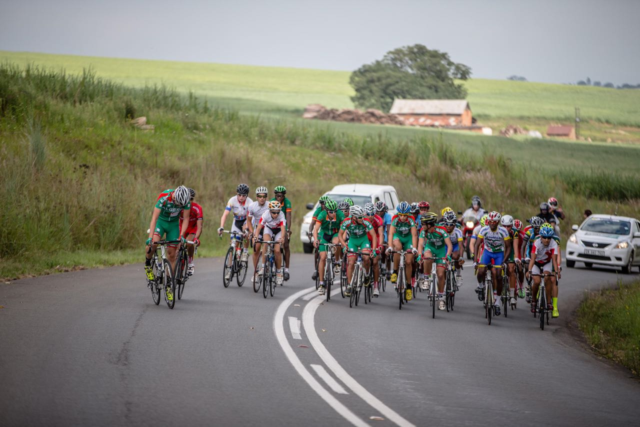 Riders were greeted with some slightly windy but ultimately good conditions for the Junior Men's and Women's Road Races on day four of the 2015 Confederation of African Cycling African Road Championships on Thursday © craigdutton.com