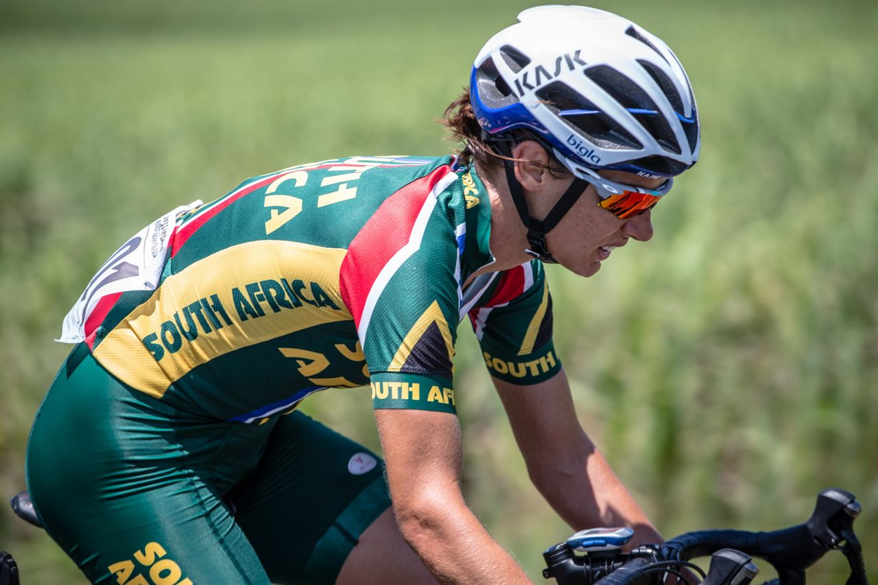 Friday saw Bigla Pro Cycling Team ace Ashleigh Moolman-Pasio claim a clean sweep of gold medals as she added the Elite Women's Road Race title to her Time Trial win early when she won on day five of the 2015 Confederation of African Cycling African Road Championships on Friday © craigdutton.com