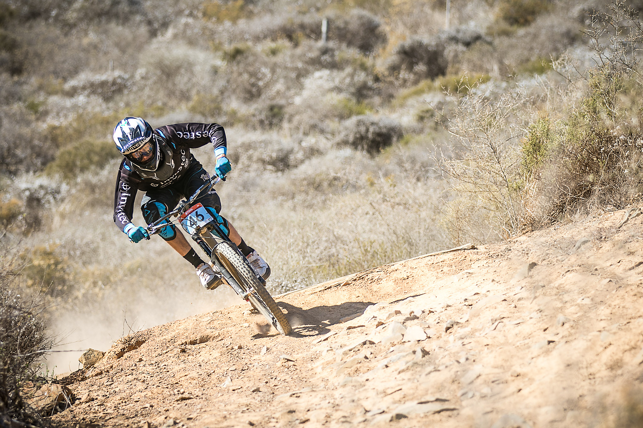 Elite Men's winner Stefan Garlicki at theStihl 2015 SA MTB Cup Series #1 which took place in Contermanskloof in the Western Cape on Sunday 22 February 2015. Chris Hitchcock | PhotoSport