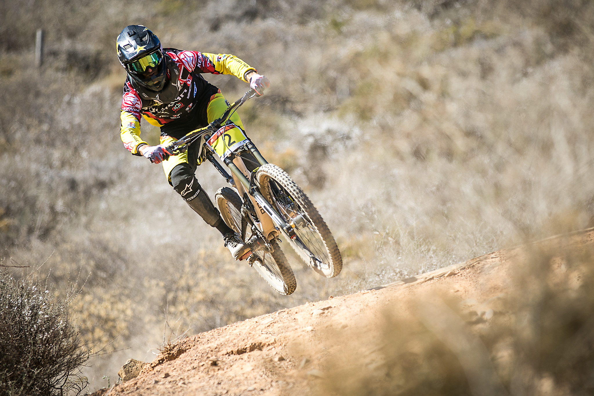 Andrew Neethling, who came secondoverall in the Men's Elite race at t he Stihl 2015 SA MTB Cup Series which took place in Contermanskloof in the Western Cape on Sunday 22 February 2015. Chris Hitchcock | PhotoSport