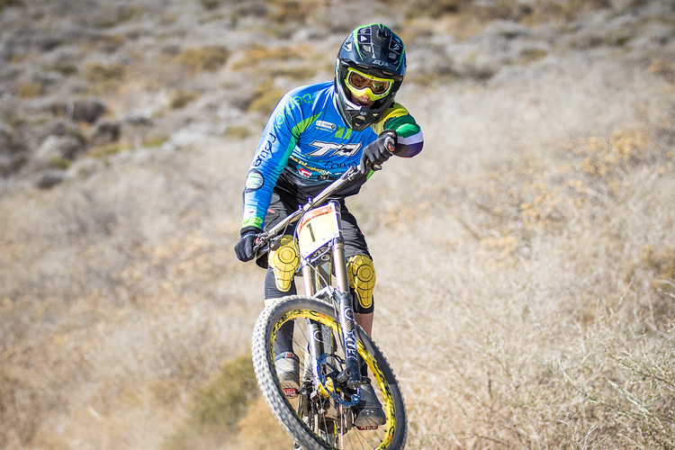 Three-time National Champion and National Cup Series winner, Tiaan Odendaal, is raringto go as he prepares for the second round of the 2015 Stihl SA DHI CUP Series at Cascades MTB Park, Pietermaritzburg on Sunday 5April. Chris Hitchcock|PhotoSport