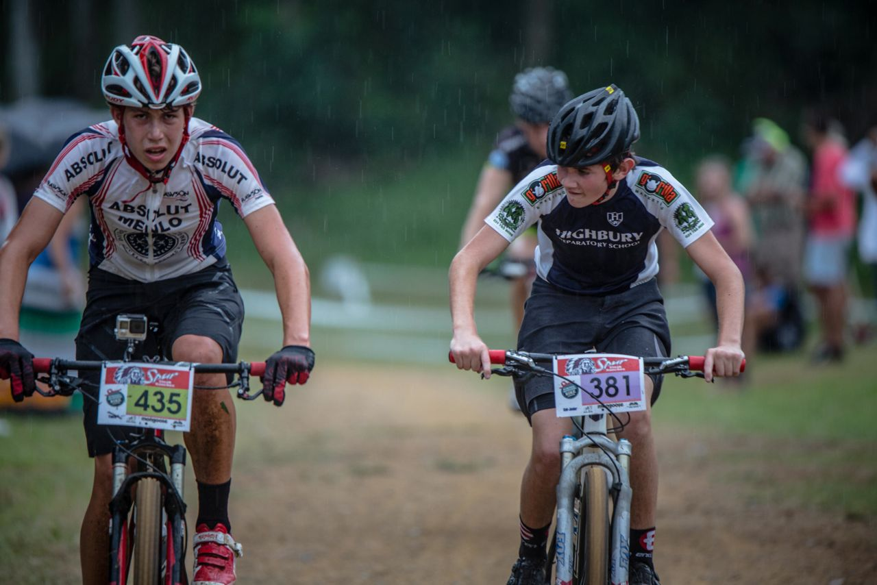 Late afternoon rain could not dampen the enthusiasm of the older teenagers taking part in the Spur Series race that helped to kickstart the Pietermaritzburg MTB Festival at the Cascades MTB Park on Friday.©     craigdutton.com