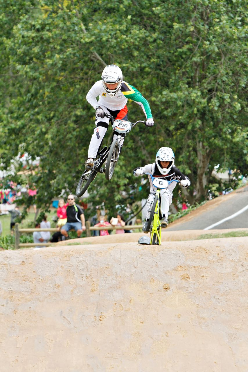 Kyle Dodd (left)and Alex Limberg (right) ready for the opening round of the 2015 UCI BMX Supercross World Cup season in Manchester (Great Britain) from 18-19 April. Photo: Kevin Bender