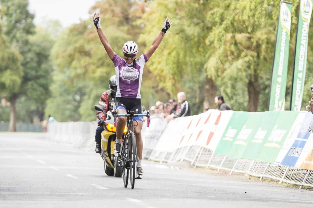 Cherise Stander, cycling for the CSA Womens Development team, claimed the victoryin the inaugural Freedom Day Classic, part of the KZN Autumn Series which took place in Pietermaritzburg, KwaZulu-Natal, on Monday 27 April. Photo credit: Andrew McFadden