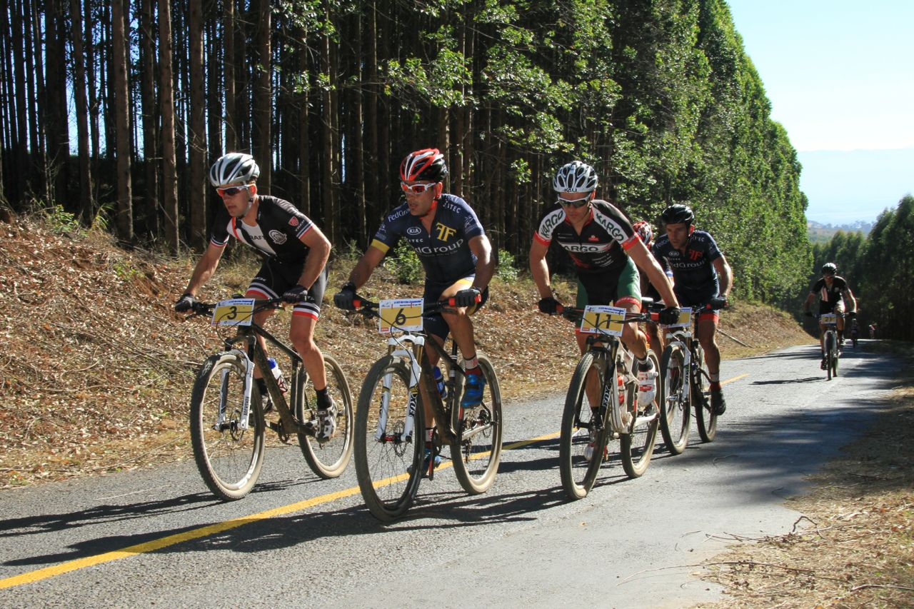 South Africa's top endurance mountain bikers will be seen in a battle supreme to be crowned the National Champion at the 2015 South African Mountain Bike Marathon Championships powered by Stihl, in the North West Province on Saturday 6 June 2015. Photo: Mylene Paynter