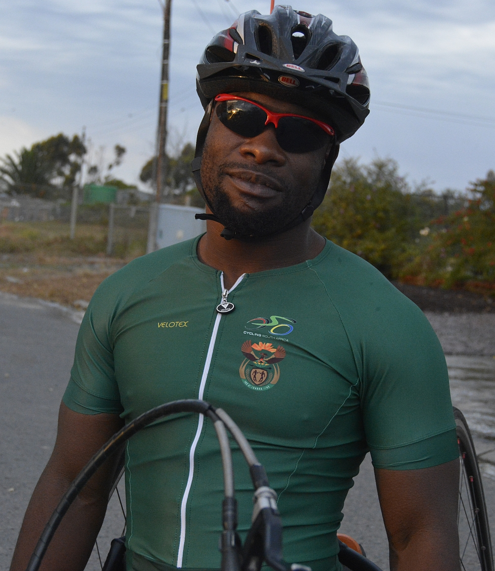 Simon Makgobela, highly talented SA development rider (H5), is entered for the Italian and Swiss UCI Para-cycling Road World Cup events as an independent competitor. Photo: supplied