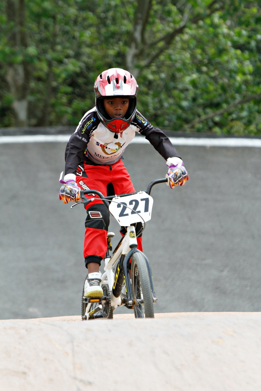 Sifiso Yolisa from Songo.info. Team BMX Coach, Darryn Stowe, will be bringing a team of six riders for rounds four, five and six of the 2015 BMX National Age Group (N.A.G.) Championship Series, which take place at Alexandra Park, Pietermaritzburg, from 4-5 July. Photo: Kevin Bender