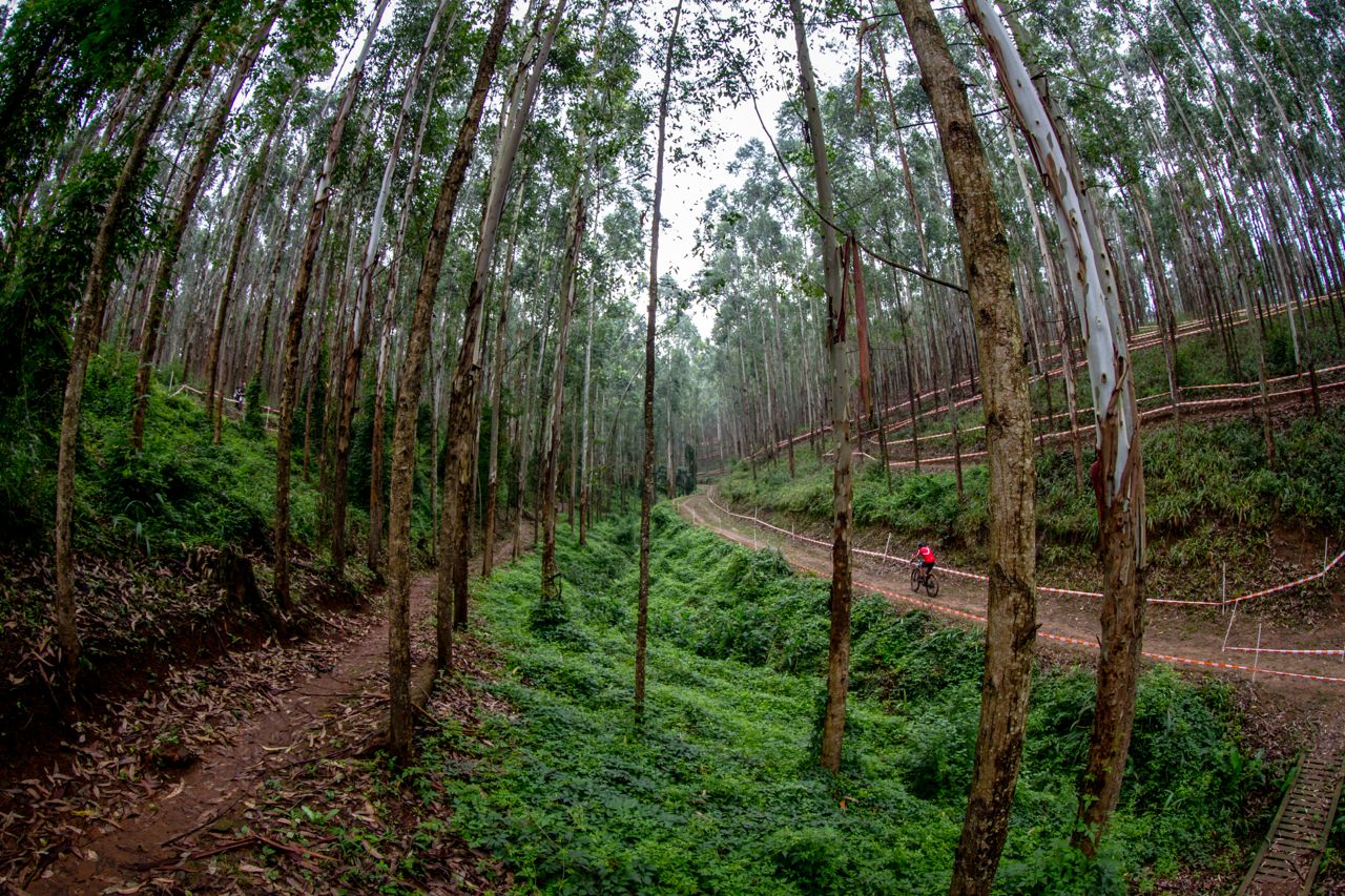 After a cold and dry winter spell, race organisers wait for a little rain to settle the dust the XCO and DHI courses designed for the last round ofthe2015 Stihl SA MTB Cup at Cascades MTB Park, Pietermaritzburg, on 27-28 June. Photo© Craig Dutton/pics2go.co.za