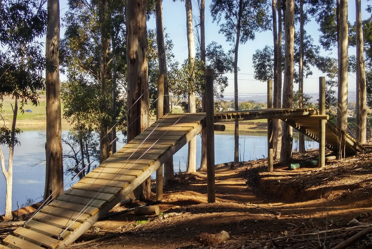 Purposefully built bridges have created an intricate cross-over section in the first half of the cross country course that awaits participants of the 2015 Stihl South African Mountain Bike Championships presented by Subaru Cape Town/Novus Holdings. Bryan Strauss/Gameplan Media