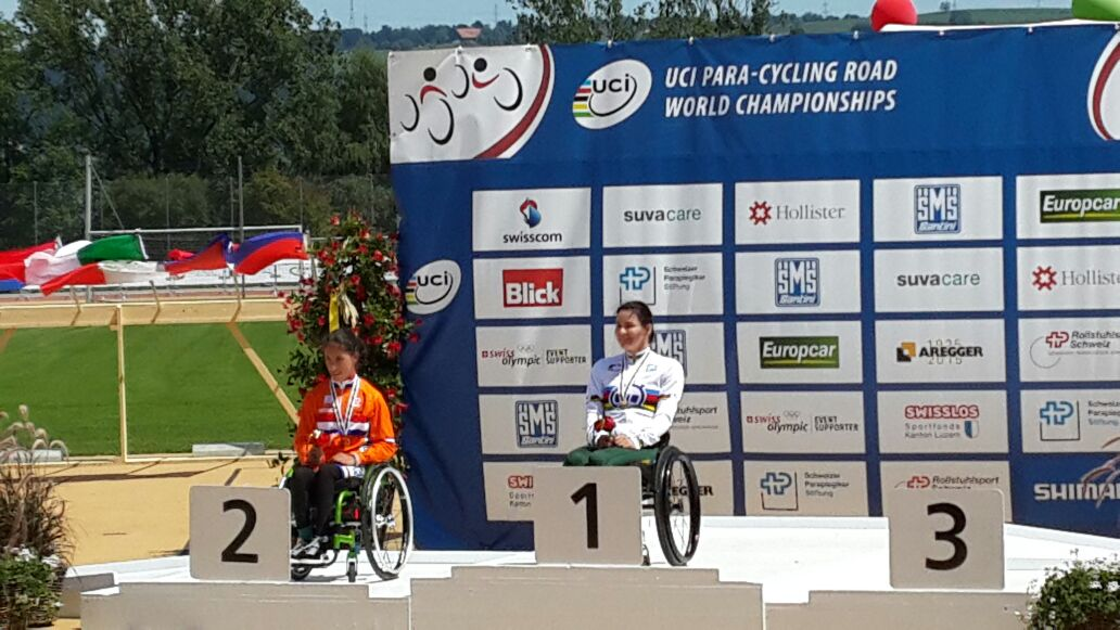 Newly crowned Time Trial World Champion, Justine Asher, said the route suited her well at the 2015 UCI Para-cycling Road World Championships, taking place in Notwill, Switzerland, from 29 July to 2 August.