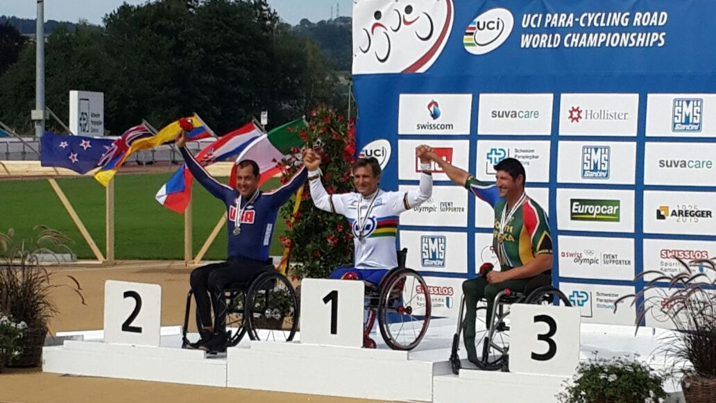 Bronze medallist, Ernst van Dyk, found the route tough yet put in a solid performance at the 2015 UCI Para-cycling Road World Championships, taking place in Notwill, Switzerland, from 29 July to 2 August.