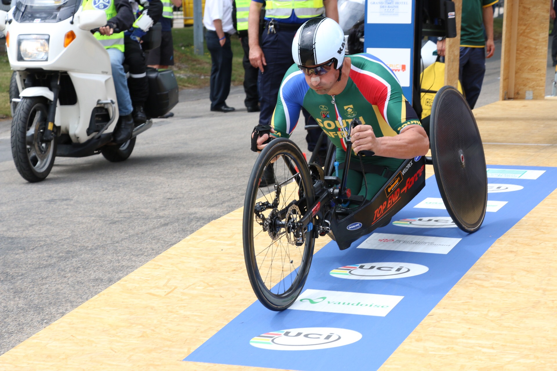 Multiple H5 World Champion and Paralympic medalist, Ernst van Dyk, is feeling ready and composed ahead of the 2015 UCI Para-cycling Road World Cup in Pietermaritzburg from 11-13 September. Photo credit: Illse du Preez.